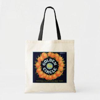 Golden Circle Brand Oranges Crate Label Budget Tote Bag