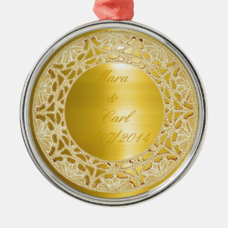 Golden Circle Christmas Ornament