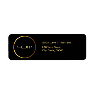 Golden Circle Elelgant Modern Return Address Label