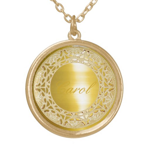 Golden Circle Personalized Necklace