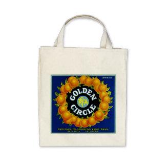 Golden Circle Oranges Canvas Bags