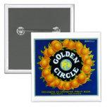 Golden Circle Oranges Pinback Button