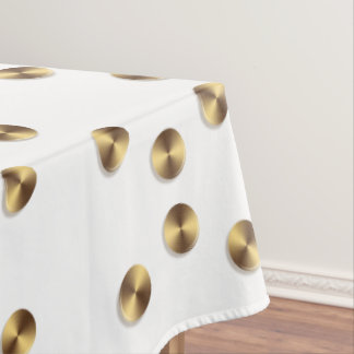 Golden circles pattern tablecloth