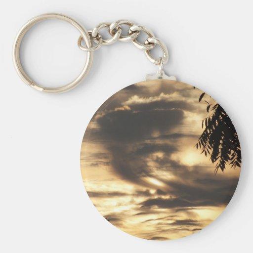 Golden Clouded Sunrise Keychains