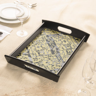 Golden Clouds Serving Tray