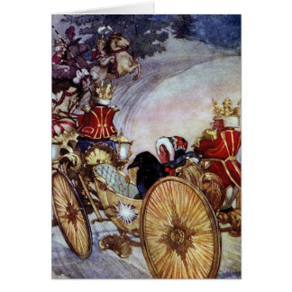 Golden Coach Fine Art Illustration Greeting Card