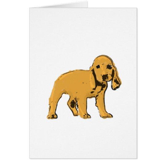 golden cocker spaniel puppy greeting card