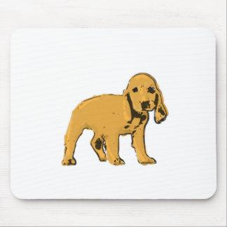 golden cocker spaniel puppy mousepad