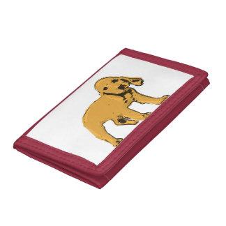 golden cocker spaniel puppy wallet/purse trifold wallet