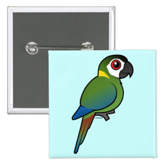 Golden-collared Macaw 15 Cm Square Badge