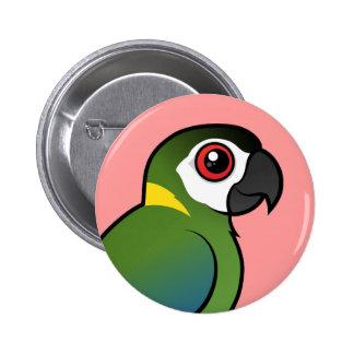 Golden-collared Macaw 6 Cm Round Badge