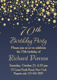 70th birthday invitations announcements zazzle uk