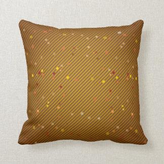 Golden Confetti Accent Pillow