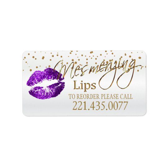 Golden Confetti & Purple Lips - Reorder Label