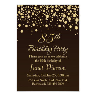 85th Birthday Invitations Announcements Zazzle Co Uk