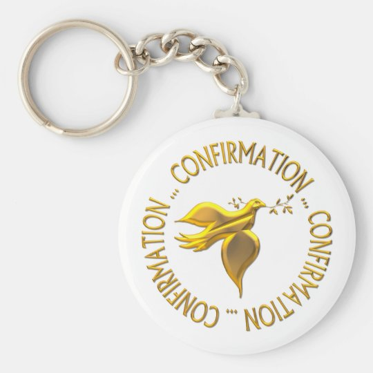 Golden Confirmation and Holy Spirit Key Ring