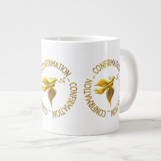 Golden Confirmation and Holy Spirit Large Coffee Mug