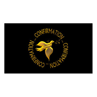 Golden Confirmation and Holy Spirit Pack Of Standard Business Cards