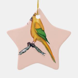 golden conure, tony fernandes.tif christmas ornament