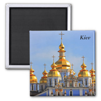 Golden copes of in cathedral in Kiev, Kiev Square Magnet