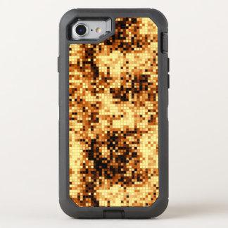 Golden Copper Mosaic Pattern OtterBox Defender iPhone 8/7 Case