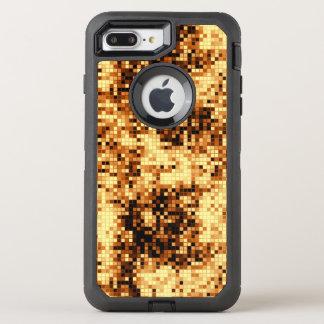 Golden Copper Mosaic Pattern OtterBox Defender iPhone 8 Plus/7 Plus Case