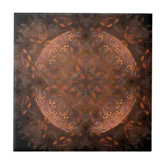 Golden Copper Shimmer Small Square Tile