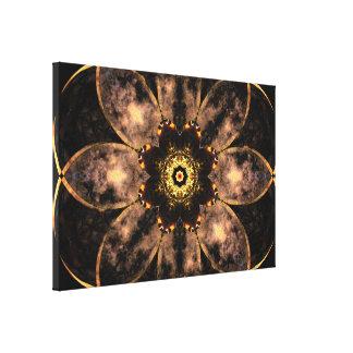 Golden Core Moon Mandala Canvas Print