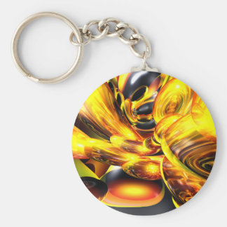 Golden Cosmos Abstract Keychain