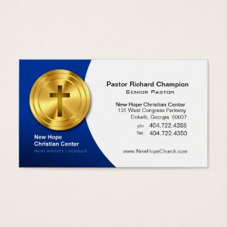 Golden Cross Christian Symbol Minister/Pastor