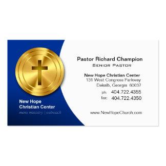 Golden Cross Christian Symbol Minister/Pastor Business Card