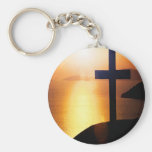 Golden Cross Keychain