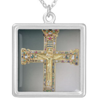 Golden cross of Essen Silver Plated Necklace
