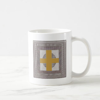Golden Cross Sparkle White Crystal Beads Gifts Mugs