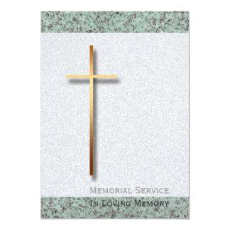 Golden Cross Stone 1 Funeral Announcement
