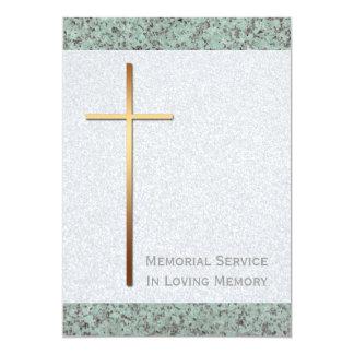 Golden Cross Stone 2 Funeral Announcement