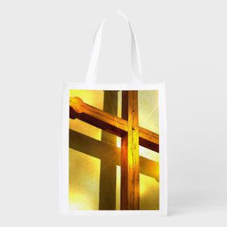 Golden Cross Grocery Bag