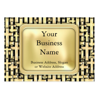 Golden Crosses Pack Of Chubby Business Cards