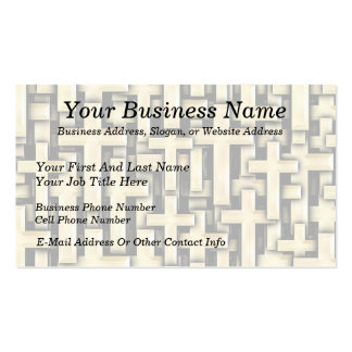 Golden Crosses Pack Of Standard Business Cards