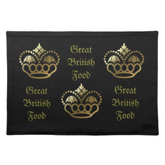 Golden crown designs, Great Britsh Food Placemat