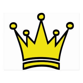 golden crown icon postcard