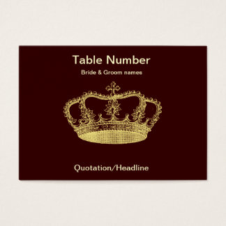 Golden Crown Reception Table Placecard