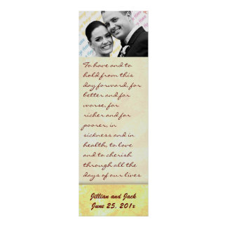 Golden Crown WEDDING Vows Display Poster