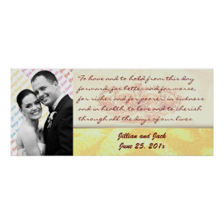 Golden Crown WEDDING Vows Display Posters