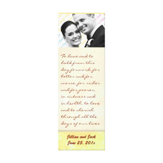 Golden Crown WEDDING Vows Display Stretched Canvas Prints