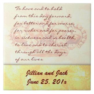 Golden Crown WEDDING Vows Display Tile