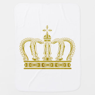 Golden Crown + your ideas Baby Blanket