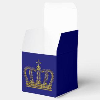 Golden Crown + your ideas Wedding Favour Box