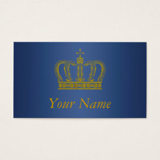Golden Crown + your text Business Card