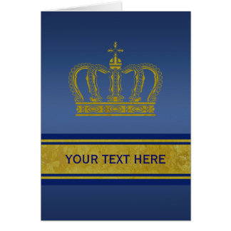 Golden Crown + your text Greeting Card